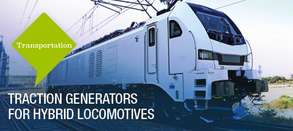 Traction generators for hybrid locomotives